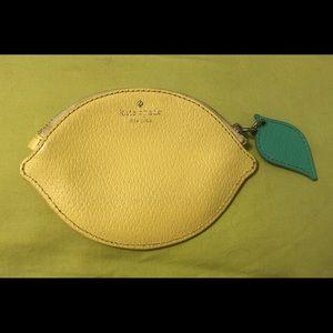 Kate spade lemon wallet/card holder